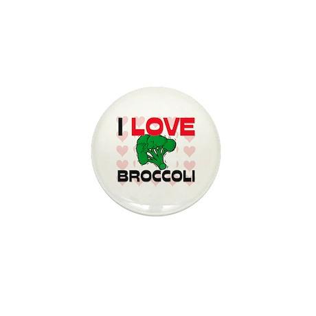 I Love Broccoli Mini Button (10 pack)