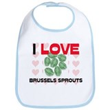 I Love Brussels Sprouts Bib