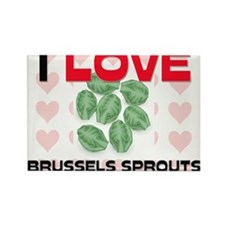 I Love Brussels Sprouts Rectangle Magnet