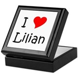 Unique Lilian Keepsake Box