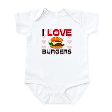 I Love Burgers Infant Bodysuit