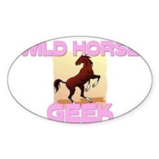 Wild Horse Geek Oval Decal