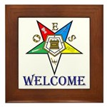 OES Welcome Framed Tile