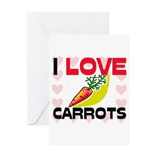 I Love Carrots Greeting Card