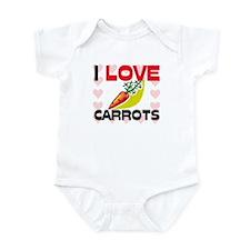 I Love Carrots Infant Bodysuit