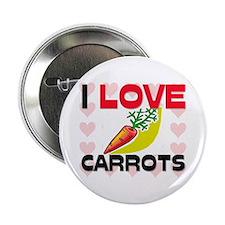 "I Love Carrots 2.25"" Button"
