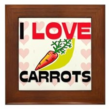 I Love Carrots Framed Tile