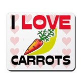I Love Carrots Mousepad
