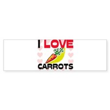 I Love Carrots Bumper Bumper Sticker