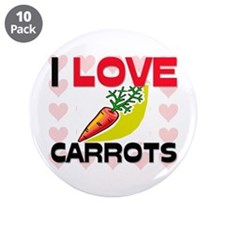 "I Love Carrots 3.5"" Button (10 pack)"