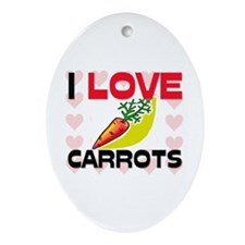 I Love Carrots Oval Ornament