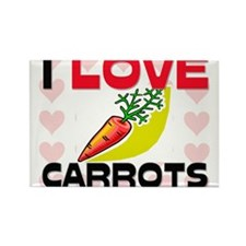 I Love Carrots Rectangle Magnet