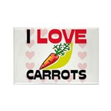 I Love Carrots Rectangle Magnet (10 pack)