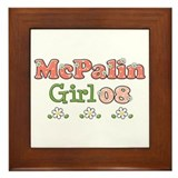 McPalin Girl Framed Tile