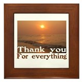 Thank You Framed Tile