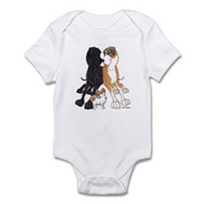 NBlk NFMtMrl Pap Lean Infant Bodysuit
