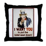 Put the Seat Down! Throw Pillow