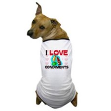 I Love Condiments Dog T-Shirt
