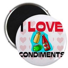 I Love Condiments Magnet