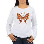Butterfly Tattoo Women's Long Sleeve T-Shirt