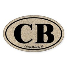 Cocoa Beach CB Euro Oval Oval Decal