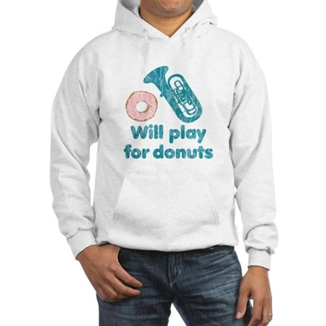 Will Play Tuba for Donuts Hooded Sweatshirt
