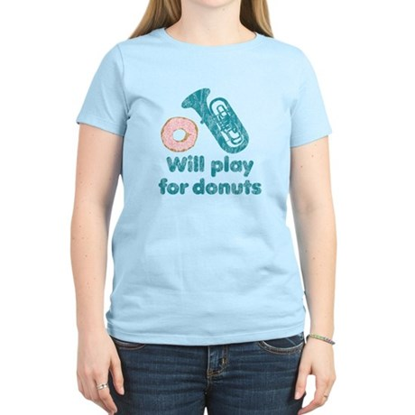Will Play Tuba for Donuts Women's Light T-Shirt