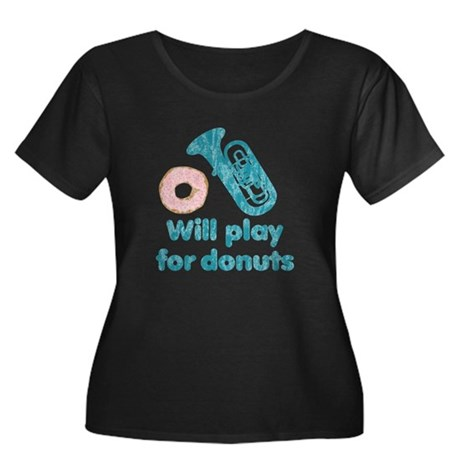 Will Play Tuba for Donuts Women's Plus Size Scoop