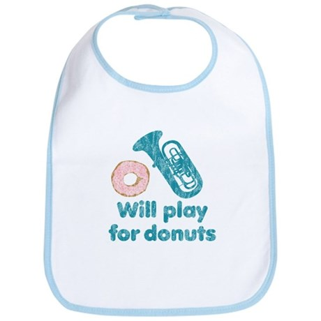 Will Play Tuba for Donuts Bib