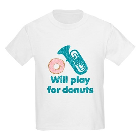 Will Play Tuba for Donuts Kids Light T-Shirt