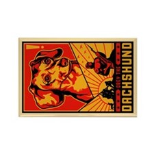 Obey the Dachshund! Rectangular Magnet