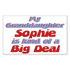 Granddaughter Sophie - Big De Rectangle Decal