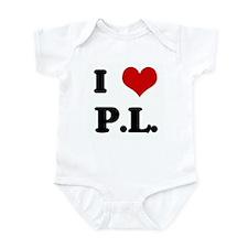 I Love P.L. Infant Bodysuit
