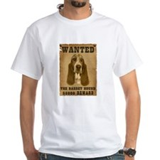"""Wanted"" Basset Hound Shirt"