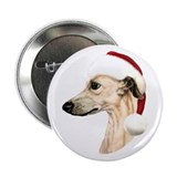 Fawn Whippet Santa Button