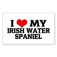 I Love My Irish Water Spaniel Sticker (Rectangular