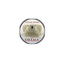 Polar Bears For Obama Mini Button (10 pack)