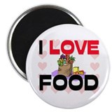 "I Love Food 2.25"" Magnet (10 pack)"