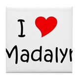 Funny Madalyn Tile Coaster