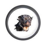Cute Cute rottweiler Wall Clock