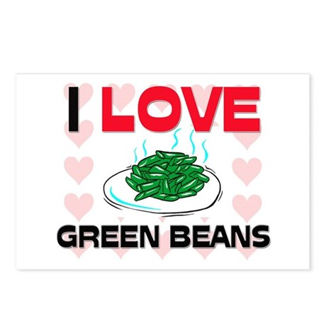 I Love Green Beans Postcards (Package of 8)