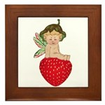 Strawberry Fairy : Framed Tile