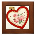 Heart and Bear : Framed Tile