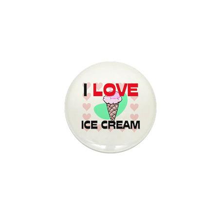 I Love Ice Cream Mini Button (10 pack)