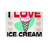 I Love Ice Cream Rectangle Magnet