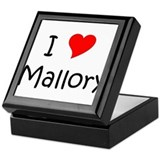 Unique Mallory Keepsake Box