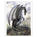 Black dragon - Small Poster
