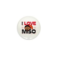I Love Miso Mini Button (10 pack)
