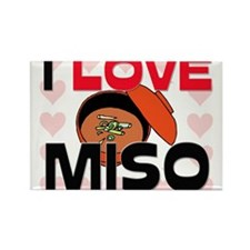 I Love Miso Rectangle Magnet