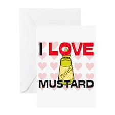 I Love Mustard Greeting Card